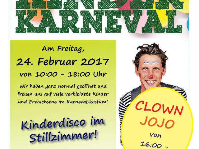 Kinderkarneval mit Clown Jojo